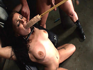 Nasty slut squirts so hard while tied up!