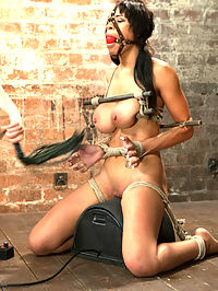 Jade Aspen and Nerine Get Introduced to HogTied : Two lovely bitches, four lovely scenes. Since we get very positive reviews about two girl two scene updates, here is a special treat for you. Jade is brand new to bondage and pain. Entirely inexperienced, we bring her into the fold, creating dynamic predicaments for her stunning body. She also gets her first taste of the sybian. Overwhelmed with pleasure you get to watch her very first moments with a very intense machine! Second is stunning Nerine. She endures a partial breast suspension and very hard standing back bend in high heels. Both expose her vulnerable cunt and tits, and both she is quite clearly taken advantage of.