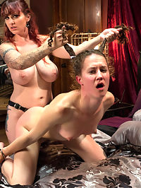 A Gift Of Submission : Berlin comes home from a long week to discover Madeline has left her with a delicious surprise, Bonnie Day in a cage! Berlin was expecting a quiet weekend but cant resist the urge to use Bonnie all weekend as she sees fit. Bonnie is ass plugged and made to cum, her ass is spanked and whipped and shes single tailed and cat o nine just to prove shes worthy enough to fuck Berlins beautiful pussy with a dildo gag and lick that wet pussy and ass clean. Bonnie suffers so beautifully with nipple torture, dick on a stick, handcuffs and strap-on ass fucking to uncontrollable orgasms. Once Bonnie knows her place shes dressed in heels and a leather corset and made to sleep in a cage for the rest of the night!