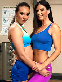 MILF Cougar stalks a Hottie Yoga Girl and they FUCK MACHINES in the gym! : Indian Summer and Casey Calvert look like they have known each other their whole lives - and they fuck like that too! India may start off showing Casey the way to a strong orgasm with pussy licking and ass fingering, but they both end up total out fucked and in cum space from the machines. India shows Casey some clit tricks she has learned from the extra fucking years she has on the 23 year old and Casey squirts burst of cum while India works her clit into a sensitive mess and The SatisfyHer works her pussy. Both girls end their gym workout spent and sopping wet.