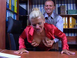 Hannah and BenjaminM furious mature movie : It seems like this handsome office stud hasnt been working too hard recently, so he has to try hard to stay on the payroll. However, theres one thing Benjamin M. can do for his ever horny old female employer, he can go down and eat her mature soaking beaver. This big breasted milf loves to have her way with young office boys, so now he can give Hannah his big hard cock that will compensate for the lack of hard work.