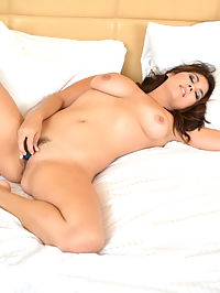 SpunkyAngels Busty babe Mai Ly shows off her perfect huge tits in bed as she gets naked to use her new vibrating bullet toy : Busty babe Mai Ly shows off her perfect huge tits in bed as she gets naked to use her new vibrating bullet toy