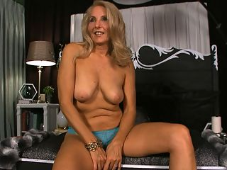 Getting to know Chery Leigh : Wearing a very short dress, sexy panties and no bra, 55-year-old first-timer Chery Leigh sits down for a lets-get-to-know-you . Chery is a wife, MILF and GILF who was born in Baltimore, Maryland and lives in South Florida with her third husband. He was standing just 15 feet away from Chery during this interview...even closer for her fuck scenes.br I take good care of myself. I go to the gym every day, said this long-legged blonde, and its obvious.br In this interview, Chery tells us about her miserable sex life with her first two husbands and her incredible sex life now. She talks about being a swinger. She talks about having sex with seven men at once. She shows off her tan-lined ass and her pretty tits which dont have tan lines.br br We asked Chery if the people who know her would be surprised to see her here, and she said, Those who are not aware of me being a swinger would be extremely surprised. I am discreet since I run a small business.br br Thats an electronics business. Chery has also managed car dealerships. Now shes doing this.br This has been a fantasy of mine for a long time, she said. I hope you like it! I want to do more!br br Bring her on!