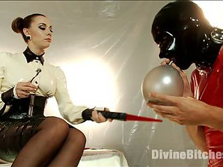 Chanel Prestons Divine Latex Used, Teased and Denied! : Chanel Preston knows Tony Orlandos weakness latex-clad dominant women. Teased by the prospect of worshipping Chanels latex, Tony works hard for his reward. Chanel demands foot worship, ass worship and disembodied, latex-encased sex slavery. She uses her rubber slave boy as a human dildo, but only after a caning, CBT, electric shock, trampling, and anal strap-on. Tonys cock drips in anticipation while the Goddess controls his every action up to his uncertain orgasm.