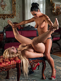 Sandra Romain Returns in Domestic Servitude! : In episode 2 of our eastern European expeditions we travel thousands of miles just for the return of one of Whipped Asss greatest assets, Miss Sandra Romain!!! Shot in her opulent Czech Republic countryside mansion she punishes her busty blonde slave girl for embarrassing her in front of her American friends looking for slaves to take home to California. Sandra dominates Angel in the only way Sandra Romain can. The curvy Angel Wicky takes hard spanking, tit bondage, verbal humiliation, clamps, whipping, paddling, made to worship pussy, strap-on fucking and DP at the hands of one of Whipped Asss most legendary dommes!