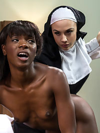 Filth and Sin : Ana Foxx has led a life of sin where shameless masturbation was the norm in her life until she chooses to join the nun hood. Looking to change her life completely she trades her favorite sex toy for her first bible and swears to a life void of filth. When Mother Superior Preston discovers this dirty secret it opens up a side of her that insists shes the chosen one and in order to make it day to day in the convent she must pay the biggest price submitting to Mother Superiors every whim! Spanking, candle wax, heavy paddling, single tail whipping, strap-on fucking in unforgiving stocks, nipple tortures, ass licking and much more!