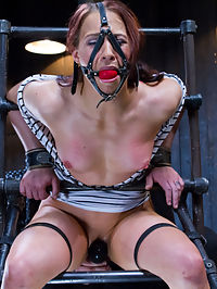 Chain Reaction : Extreme physical conditioning is a valuable attribute, but doesnt mean that it makes shooting for Device Bondage any easier. Cheyenne enters, and her amazing physique catches everyones attention. Im the lucky one who gets to spend the day destroying this fine specimen of a woman. She starts in a stress position that tears away at her thighs, which causes her to feel the fatigue quickly. Thats the point break her down and show her that her physical strength will only go so far today. The playing field just got leveled.She is spread as wide as I can get her legs, and covered in chain to hold this buff bitch in place. A brutal assault of her entire body begins. She is pushed to the edge time and time again, yet dancing the line of breaking her, keeps her from tapping out. She is almost fully exhausted now.We let gravity and body mechanics make her suffer in this last brutal chain suspension. Her legs are manipulated in a way that her body is used against her to keep her wedged in, with no escaping. She is hoisted into the air, hands chained to the floor, and the final torment begins.