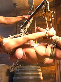 The Slave Auction Darling Gets Ass Fucked in Strict Bondage! : This Special Halloween Feature update stars bondage superstar Darling in a cruel sex-slave auction. After being sold to the highest bidder, Darling is locked up in wooden stocks and sexually used for her new masters pleasure. Watch Darling get overwhelmed with intense pleasure and erotic torment as she endures strict bondage and merciless fucking in her tight ass!