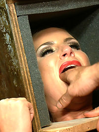 Penthouse Pet Phoenix Marie Ass Fucked in Public : Lead out in public with a sensory deprivation box on her head, Phoenix Marie is made to strip, fisted, and ass fucked.