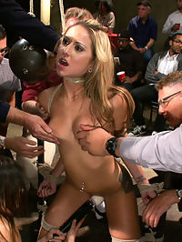 20 Year Old Amateur Bound and Disgraced : Dallas Blaze is a member of Public Disgrace who has long dreamed of modeling for the site! Tonight this 20 year old cutie gets her chance to fulfill her dream of being tied up and fucked at the armory while strangers watch and feel her up!
