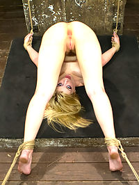 Two Gorgeous Blonde Rope Sluts Made to Orgasm in Rough Bondage : Two for one today on HogTied! These two gorgeous girls are tied, gagged, whipped and made to endure multiple orgasms.