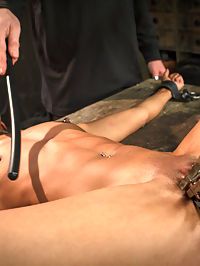 Sadistic Embrace : This is the edited version of our November live shoot. Nikki goes head to head with The Pope in this vulgar display of power. She wants to take the journey and be pushed as hard as he can push, and we get to see her taken to her breaking point and totally overwhelmed by the shear brutality of the shoot.Its not often that you get to see a model pushed this hard, or the comforting that was displayed to bring her back from the evil suffering that was her day at Device Bondage.