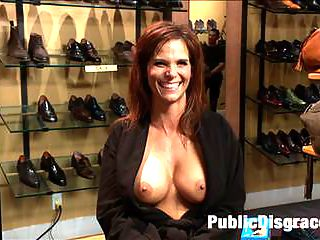 Dreamy MILF behaves herself like a perfect sub should. : Fucked and disgraced in public! All in a days work for a professional submissive. Syren De Mer takes an ass pounding like a good sub should Hard and dirty in a room full of people! All holes filled, Audience takes turns fisting.