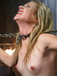 Fresh MeatYoung blonde slut tormented by Orlando : Tysen is new to our pages, but is slowly making a name for herself as a bondage model. We love fresh meat around here and watching them put through the paces. There is no slack given, we dont take it easy, and we always make sure the members get to see the genuine article. Orlando breaks this little whore in properly with massive amounts of punishment, bondage and orgasms. She gets to cum, but only after this slut pays her dues.