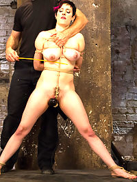 Requests Fulfilled Impossible Bondage Positions : Iona Grace is a great bondage model who always pushes herself to the extreme. That is why I booked her for this HogTied live show and she does not dissapoint. I get a list of requests from members in real time, then we tick off the list one by one.Starting with a crazy straight arm strappado tie as a warm up, I orgasm her pussy till her knees are buckling. Then, right into the next one a pretzel tie that draws her feet behind her head and presents her pussy and ass for hard dildo fucking in her wet pussy, and brutal orgasm torment on her clit. Next up tight, vibrating crotch-rope and a cane to those huge, gorgeous tits while she is tied tight to the platform. We finish with an inverted crucifixion that pushes Grace to her limits.HogTied delivers the most intense orgasms in bondage on the web!