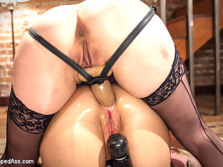 MILF Destroyed Filthy Milfy Mommy Cunt : Perverse employment recruiter Maitresse Madeline dominates desperate MILF housewife Simone Sonay in this extremely sexy lesbian BDSM fantasy! OTK spanking, pussy licking, ass licking, fisting, strap-on anal, large butt plug, whipping and caning!