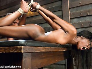 Date Night : Sexy Ana Foxxx has a body to die for and enjoys hard bondage and rough sex dished out by Mr. Pete. This beautiful girl gets put through her paces with deep throating, corporal punishment and hard fucking while restrained in tight bondage that shows of her remarkably fit body and gives the viewers a clear view of the penetration.