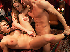 Anal Slave Broken in by Gorgeous Chanel Preston : Chanel Preston shows Angel Allwood how to take in the the ass like real porn star