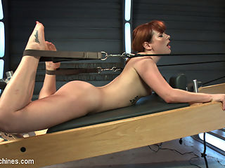 Pilates FuckingMachine! : Claire Robbins returns with her flexible body to fuck machines. Today we take full advantage of this Bar Method babe and stretch her out and fuck her holes! The day starts in a her tight workout clothes and ends with her sloppy and well-fucked. We got our hands on a Pilates reformer machine and its not clear what is more hot - watching Claire work out or watching the machines fuck her while she moves back and forth. We invented a sloppy fuck machine which pulls Claire back and forth onto a dildo that works her pussy into a wet, sloppy mess! So hot! And the ass pounding - oh, the ass pounding! Hump day indeed!