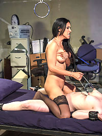 Isis Love returns to double penetrate desperate lesbian slut! : Isis Love returns to humiliate, strap-on anal fuck and double penetrate Katharine Cane in a kinky lesbian roleplay! Katharine will do anything to get out of her parking ticket including pain and rough lesbian sex at the hands of a sadistic and sexy domme!