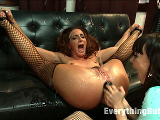 Squirt Gushing Anal Fisting Queen! : Savannah Fox takes her anal game to the ultimate level with Dana DeArmond working her magic! This bootylicious slut cums with intensity as she gets ass fisted and ejects massive amounts of squirt all over the place. She then gets her lucky hole stretched open wide with the ass speculum and then strap-on fucked with a big cock! Dana receives her well deserved fixing of anal stuffing and stretching to round out a delightful anal enthusiast event!