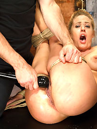 Request Fulfilled Big Tit MILF Bondage Predicaments : Gorgeous big tit blonde Holly Heart is BACK as a hot fucking MILF! Recorded during our last live show, Holly Heart takes requests from viewers and fulfills them all throughout the shoot.Super tight crotch-rope predicament puts our MILF between a rock and hard place and all she can do is suffer, squirm and beg. But things only get tougher for her when she is tied to a chair, her pussy pinned open and her clit vibed to screaming orgasm after orgasm.Relief arrives in the form of a big black rubber dick that fucks the shit out of her helpless pussy. MILF-ey slut come so many time that she cant keep count and in the end is completely wrecked and satisfied by a very challenging live show.
