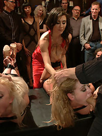 Happy Birthday Princess! Enjoy your presents! part 1 : Two pretty presents to please the Princess. Pitted against each other in a devious game- which blonde slut will take more pain for the other? Maitresse Madeline helps to celebrate Princess Donnas birthday in style.