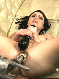 OMG NYMPH! She hot, fun and hot and sexy and does double ANAL and DP and is HOT! : Veruca James is a BABE. And she fucks machines like she is never going to cum again. We shove two machines at the same time - one in her pussy and one in her pretty ass - she explodes with a great orgasm. And then we put her in piledriver and muscle two dicks into her butt on the long armed Fucksall and watch as her giggling turns to carnal orgasm! Dont send marriage proposals to armory, we will bury them to keep ours on the top of the pile. Sorry, dudes.