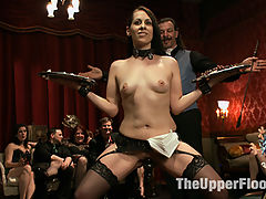 The Anal Petition of Ana Foxxx : Gorgeous porn starlet Ana Foxxx petitions to serve the Upper Floor but must survive brutal anal fucking by Karlo Karerra
