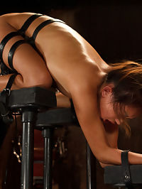 Petite Asian Bondage Virgin, Gets a Dose of Suffering : Welcome Alina Li for her first bondage shoot ever. Her body is put in compromising positions and her pussy is exposed for The Pope to do his bidding. Her nipples and pussy are clamped and weights added until she cant take any more and then orgasms are ripped from her willing cunt.Next she is spread wide on the floor and again her body and pussy fall under assault. She is blindfolded and helpless with fear of what comes next.Finally we have her ass in the air to torment her hungry cunt. She is manhandled and made to cum so many times that she truely doesnt know her own name.