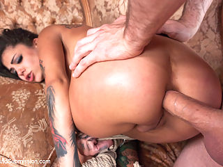 The Good, The Bad and the Rotten 19 Year Old, Anal, Epic Squirting, Rough Sex and Bondage : 19 year old Bonnie Rotten stars in this epic fantasy role play with James Deen! Bonnie Rotten is a bad ass chick who takes what she wants when she wants it. If you cross her path, chances are shell jack your car and leave you out in the desert to rot. Bonnies fast and furious lifestyle expires when shes captured by a lone cowboy who makes his own laws and punishments on his secluded desert ranch.Bonnie is all the rage right now and for very good reason. Shes incredibly sexy and has her own look that matches her outgoing and sexual personality. Bonnie is highly orgasmic and squirts like crazy as James Deen makes her come and fucks her in the ass. Bound in tight ropes, Bonnie must endure a brutal face fuck and sexual domination that James skillfully dishes out.