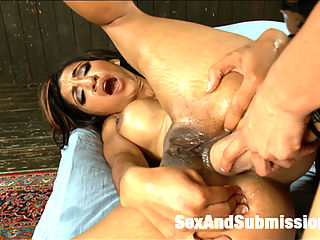 Anal Assault : Sexy Sadie Santana gets lots of anal attention as Isis Love fills her up and stretches her ass hole with toys and a fat strap-on cock!