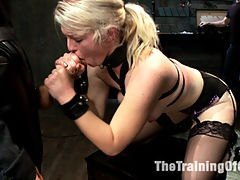 Anal Fuck Training Newbie Ella Nova, Day Three : Anal Newbie Ella Nova is trained to take huge cock in her tight, round ass! This update includes big gapes, nipple clamps, vibrating pussy, cattle prod torture training, stress positions, cock service and brutal reverse cowgirl fucking.