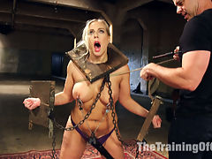 Training Anal Angel, Day Two : Porno newbie Angel Allwood has many things in store for her today. Painful stress position predicament bondage with nipple torment, made to exercise, rough blow jobs and facial abuse, ridiculous weighted cowgirl fucking and a severe anal fucking scene. If she can make it here, shell make it anywhere.