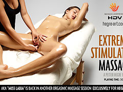 Extreme Stimulation Massage : Dominika is already smouldering. Soon she is on fire.From the moment that Dominika arches her body over the towel there is only one way to go. Her legendary lips are the first to receive a fondling from exploring fingers. Her ass is ready and waiting. She wont be disappointed there. Her stiff nipples are the proof of that. The spark has been lit. All her most intimate parts become a rich deep red as her hot blood pumps faster.Then the flames of desire swallow her up.