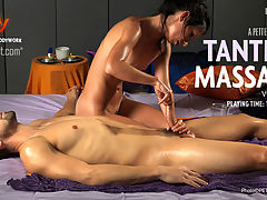 Tantric Massage - Volume 1 : Experience the ancient sexual techniques of Tantric massage in this erotic film featuring a male client.Performed by our in-house masseuse Zana, a highly experienced Tantric Goddess from Hungary, this explicit film was shot in Paris.Zana take you through a full Tantric Massage session featuring all the sacred rituals such as Bonding, Tantric Play and YoniLingam gazing.This is a unique opportunity to watch a complete Tantric Massage.