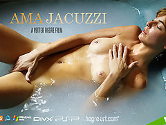 Ama Jacuzzi : Natural, unshaven and effortlessly beautiful - join Ama as she makes her film debut on Hegre-Art.com. Watch Ama as she enjoys a slow, sensual bathe in the Jacuzzi. Admire the view as she washes her perfectly formed curves intimately and tenderly - taking the time to caress her firm breasts and taut stomach. This is a golden opportunity to relax with Ama in a sumptuous setting and this gently erotic new film is certain to wash all your daily stress away! Quite simply beautiful - Ama is sure capture your heart and mind