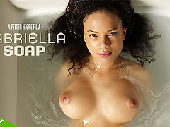 Gabriella Soap : Gorgeous Gabriella makes a welcome return to Hegre-Art this week and once again youre in for a treat! Never one to hold back, Gabriella is enjoying a long soak in the bath. And with a body as appealing as Gabriellas who can blame her for wanting to play with it? Caressing her soapy breasts, licking her nipples and letting the water run over her plump pussy, Gabriella certainly makes the most out of bath time! Jump into the bath with Gabriella youre sure to have a whole lot of fun!