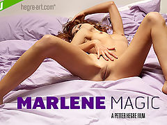 Marlene Magic : Wake up in bed next to our gorgeous new model Marlene, who returns this week in a highly erotic film shot entirely in the bedroom.?It soon becomes clear that Marlene has something very pleasurable on her mind. So enjoy the show as she works herself up into a state of delicious arousal. We can only imagine what Marlene is fantasizing about - whatever it is, it sure looks like a whole lot of fun!Step into the bedroom with Marlene, we promise you wont be disappointed...