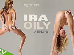 Ira Oily : Youre in for a sweet, sexy treat this week as members favorite Ira returns in a brand new, all-oily, no inhibitions kind of film!Petite Ira knows its important to keep her skin soft and supple to the touch. So enjoy the show as she covers every inch of her heavenly body in slippery wet baby oil.Ira certainly looks like she is having plenty of fun as she oils up her small firm breasts and all those other intimate places. And prepare to be totally seduced when she fixes you with that sexy, flirty look from those big baby-blue eyesShy this girl isnt! So sit back and relish this sexy, slippery moment with Ira!