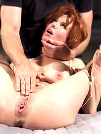 The Training of a Nympho Anal MILF, Day Three : Our little Nympho MILF is learning a little about grace under pressure on her journey through the Training of O. She is also getting fucked in the ass allot. In this installment, Veronica Avluv is taken back to the dungeon where she must prove herself worthy to return to a plush, domestic setting.Avluv is first made to suffer the cowgirl trainer, a simple device designed to make or break a slave girls ability to Do The Work. Once past this trial, she may proceed to getting some real cock. First her face is brutally fucked in a blaze between masturbation, pussy control and deep throat skills.TTOO is famed for its brutal cowgirl fucks, and Veronica applies herself to the task with a vengeance. Once her pussy is heated, she can accomplish anything, and she slams that huge gimp dick with her pretty little pussy for all she is worth.When we finally sink that cock into her waiting asshole, she cannot control the overwhelming orgasms and she is gone. Watching this slut get her ass pounded into oblivion in the name of servitude has a poetic justice to it. Is she good enough? You decide.