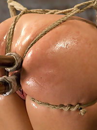 Big Tit Double Penetration Bondage Slut : Bondage whore Leya Falcon likes getting fucked, but LOVES getting fucked while tied up. Squirming squirting double penetration slut gets manhandled, taken and driven to overwhelming orgasms