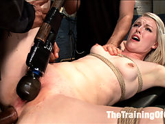 Anal Fuck Training, Final Day : Shes not such a newbie anymore. Ella Nova came to us all bright eyed and shiny, and she leaves us with just a bit more seasoning under her belt. If she learned anything in her four days in the dungeon, its how to keep that ass in fucking shape! A very hot finale with our creamy skinned trainee taking big cock in all her holes. Good girl Nova, head of the class.