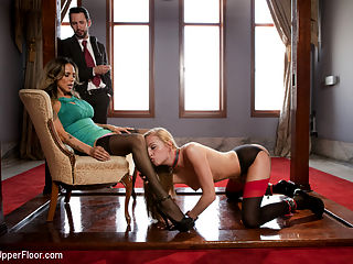 The Wife Trader : An Upper Floor FeatureWhen an eager businessman brings his reluctant wife to the Upper Floor in search of a kinky threesome, they meet the slave girl of their dreams. The talented Upper Floor slave seduces the uptight wife into a wild anal threesome. But the couples new found passion comes with a price that they may not be able to pay.Starring gorgeous porn starlet Roxy Rox, legendary Nadia Styles, and Tommy Pistol as the arrogant husband, this feature delivers the best kinky three way sex with some of the hottest talent in the business, all set on the plush Upper Floor of Kink.com Armory.