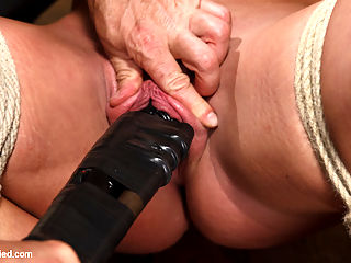 Insatiable Fuck Slut Gets the Hydra Vibe : Savannah Fox is nothing if not insatiable. Her pussy squirts when her tits are flogged, she loves being manhandled and tied up, and her cunt gobbles up hitachi vibes like they were M and Ms. She is going to need something special to satisfy that hungry pussy, and I have just the thing the Hydra Vibe. It is simple - take the biggest dildo in the cart, attach 5 vibrators, turn them all on high, and jam the thing into said hungry pussy. The result is a merciless orgasm fest that pushes Savannah to her limits and finally drains that insatiable cunt of everything its got.