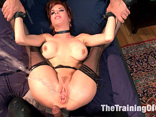 The Training of a Nympho Anal MILF, Final Day : Veronica Avluv is set to graduate slave training but must first prove her worth in the domestic setting. Her Housekeeping may not be up to par, but she sure fucks like a slave using all her slutty holes to get the job done. Avluv is put into humiliating predicaments that pit her ability to keep house with her aching to satisfy hard cock. Watch our intrepid slave girl do her best to keep up in this highly amusing finale of the Nympho Anal MILF series.