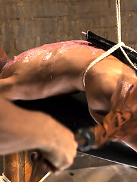 Fit and Filthy Anal Slut : Marie Luvs toned body gets put to the test against hard, brutal bondage in this weeks update. First Marie is strapped to a cross with rope covering every inch of her beautiful skin. Her tits make for great targets while the vibe strapped to her cunt makes for inescapable orgasms. Next Marie squirms as I drip hot wax all over her body, from her tits down to her pussy which is just bulging from a brutal crotch rope. This whore almost doesnt know what feel as I beat the wax off her while she cums over and over again. Finally we have this filthy little slut tied in a pile driver exposing all of her holes. Marie gets her pussy fucked and vibed while I shove a plug up her ass. The orgasms wont stop, all she can do is to beg for more and to taste the plug right out of her slutty ass. More than happy to oblige Marie!