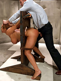 The Mad Scientist and his Cheating Wife : When Bills suspicions of his wife being unfaithful turn out to be true, he sets out to punish her with extreme sexual domination. Ava gets strapped into a futuristic sex chair and overloaded with sensations for her infidelities. While in bondage, she is anally fucked and takes a man size fist all the way in the ass making her orgasm hard.