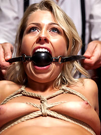 Hot Blonde with Petite Pussy Bound and Banged in Pool Hall : Beautiful Zoey Monroe looses her dress in a card game, and has to pay off the rest of her debt in sexual favors. Right from the start Zoey exposes herself as a serial squirter when she leaves puddles in every scene. Her tiny pussy gets vibrated and fucked in all the positions, and she just keeps on squirming and squirting all over the place.