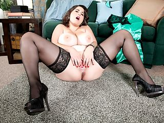 The Magnificent Mams of Alana Lace : Alana Lace, one of the most-popular new models at XLGirls, talks about her desires and needs, and one of those cravings is to be totally sexually dominated by guys. I like being trapped and restrained, says a giggly Alana, touching her big boobs. I love being taken advantage of. When I dont know whats coming next.br br Anything a man wants to do to Alana is okay with her.br br Anything?br br Anything.br br Is Alana the ultimate fuck doll?br br Youd never leave the house with this girl in the palm of your hand. Who would want to?